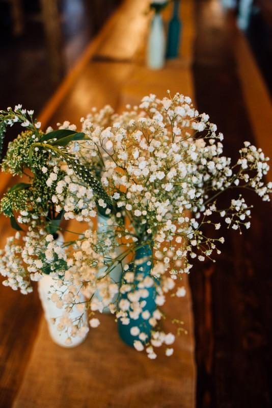 centerpiece-flowers-534x800 Outdoor Barn Wedding | Murfreesoro, TN | Paul and Amanda