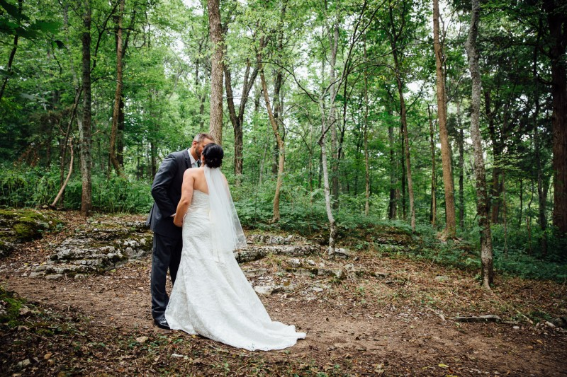 first-look-800x533 Outdoor Barn Wedding | Murfreesoro, TN | Paul and Amanda