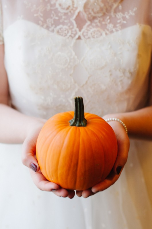 bride-holding-pumpkin1-530x800 Two Rivers Mansion Fall Wedding | Kristen and Chris