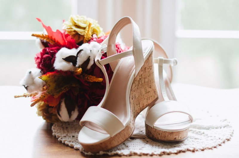 fall-wedding-bouqet-shoes-800x530 Two Rivers Mansion Fall Wedding | Kristen and Chris