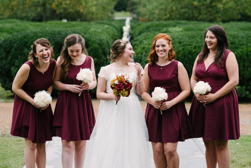 laughing-bridesmaids-800x534 Two Rivers Mansion Fall Wedding | Kristen and Chris