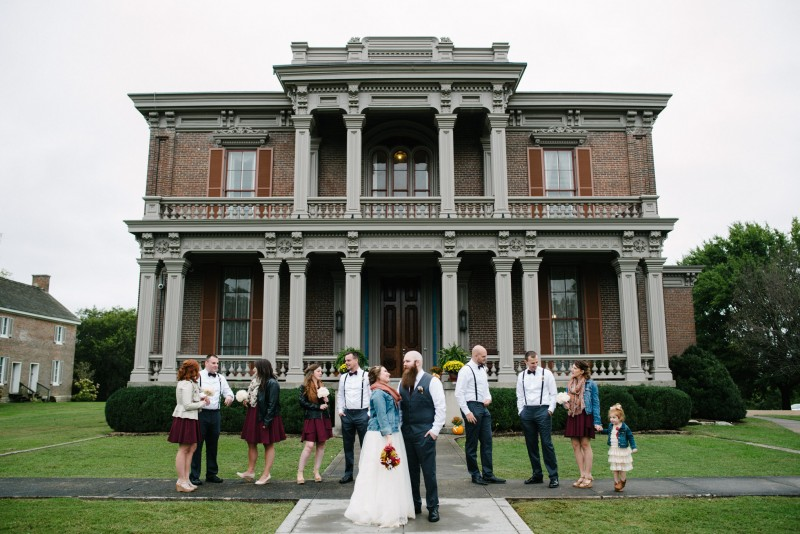 two-rivers-mansion-wedding-party-800x534 Two Rivers Mansion Fall Wedding | Kristen and Chris