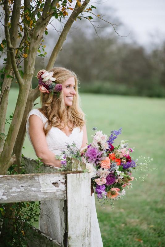 bride-on-fence-534x800 Laurie + Craig - Antrim Wedding | Columbia, TN