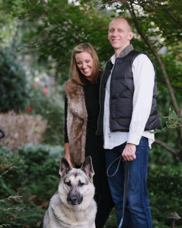 dog-in-engagement-photo-pose-640x800 Nicole + Kevin | Nashville, TN Engagement Session