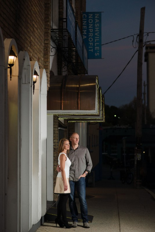 engagement-photo-at-belcourt-theater-534x800 Nicole + Kevin | Nashville, TN Engagement Session