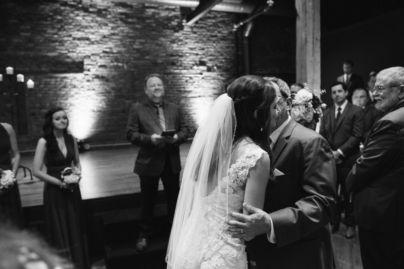 father-kissing-bride-800x534 Kristen and Nick Wedding at aVenue | Nashville, TN
