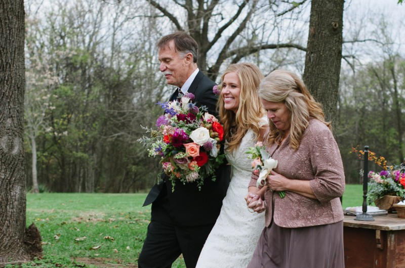 father-mother-walking-bride-down-aisle-800x530 Laurie + Craig - Antrim Wedding | Columbia, TN