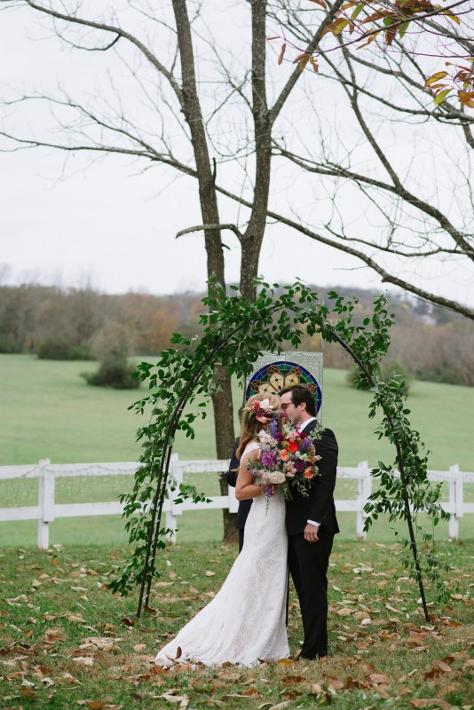first-kiss-534x800 Laurie + Craig - Antrim Wedding | Columbia, TN
