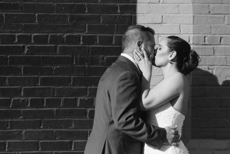 first-kiss-black-and-white-800x534 Elisa + Jerrad Wedding | Balinese Ballroom | Memphis, TN