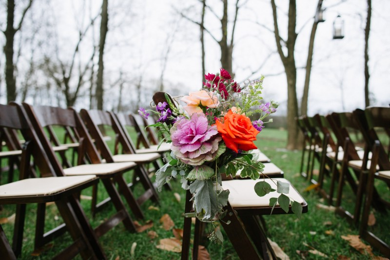flowers-on-chairs-800x534 Laurie + Craig - Antrim Wedding | Columbia, TN