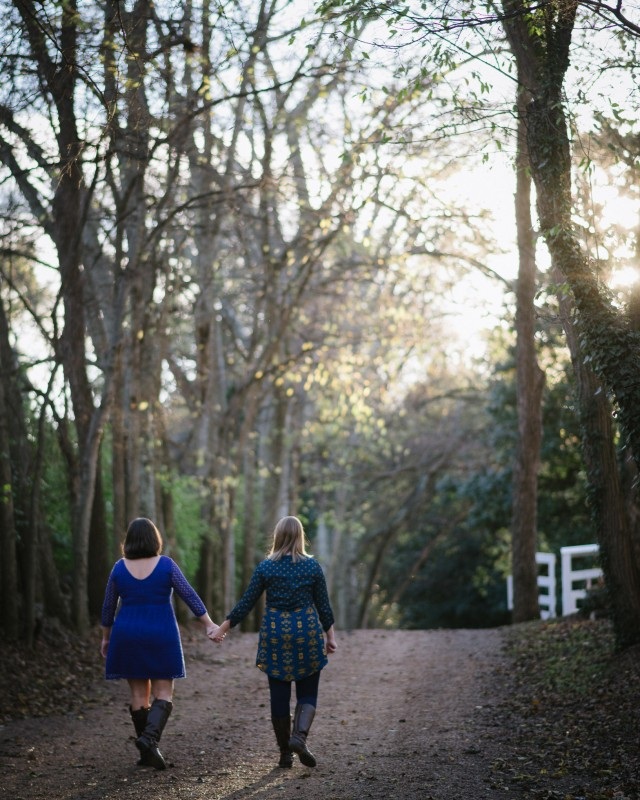 girls-holding-hands-640x800 Amy + Tara Engagement Session | Nashville, TN