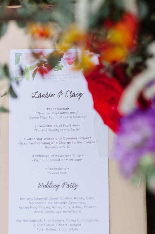 laurie-craig-wedding-program-530x800 Laurie + Craig - Antrim Wedding | Columbia, TN