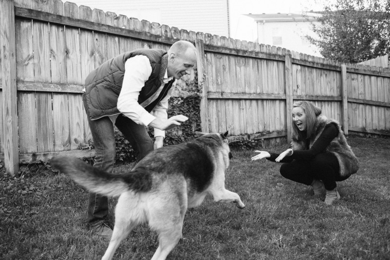 playing-with-dog-engagement-photos-800x534 Nicole + Kevin | Nashville, TN Engagement Session
