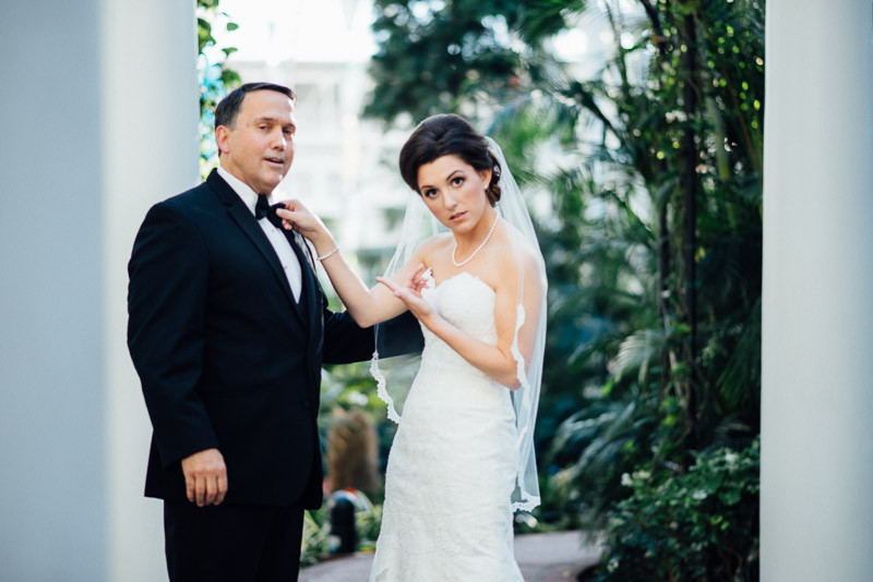 bride-with-father-800x534 Julia and Wes | Nashville, TN Winter Wedding | Gaylord Opryland Hotel