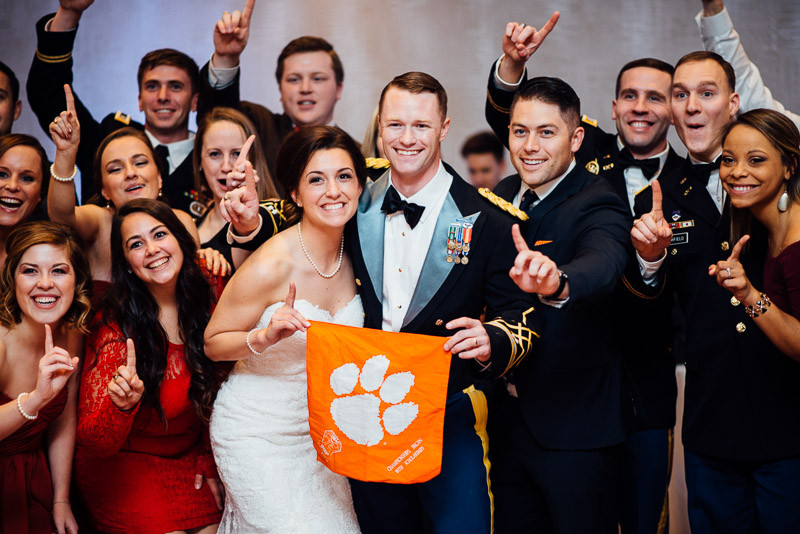 clemson-flag-at-wedding-800x534 Julia and Wes | Nashville, TN Winter Wedding | Gaylord Opryland Hotel