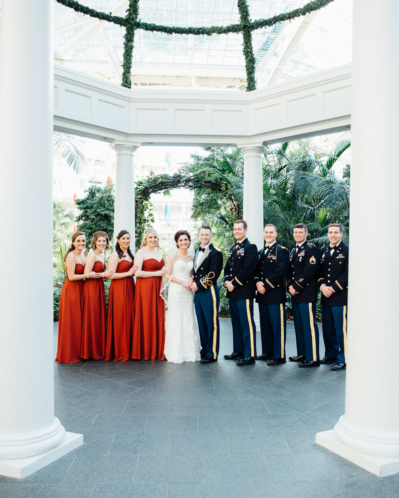 gaylord-opryland-wedding-winter Julia and Wes | Nashville, TN Winter Wedding | Gaylord Opryland Hotel