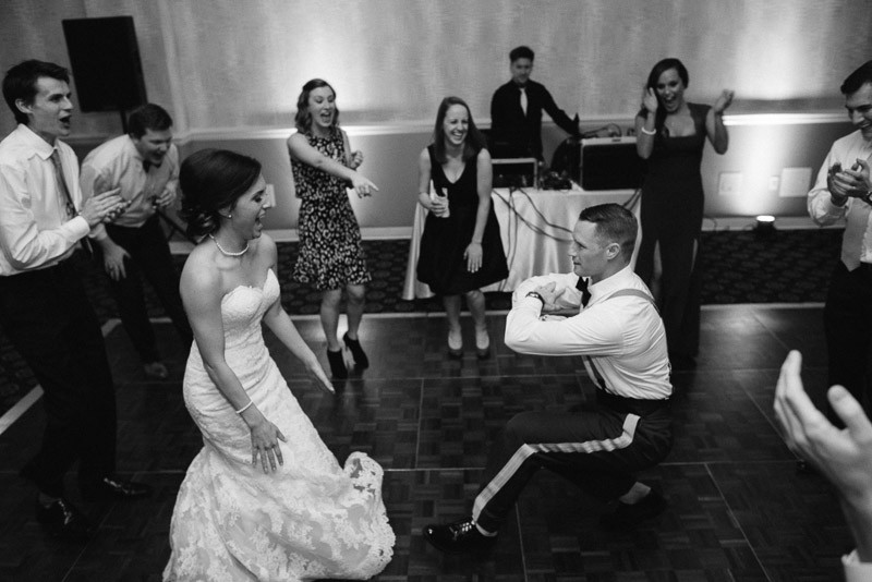 groom-getting-down-800x534 Julia and Wes | Nashville, TN Winter Wedding | Gaylord Opryland Hotel