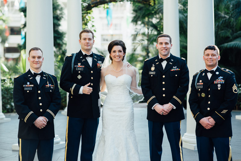 groomsmen-with-bride-800x534 Julia and Wes | Nashville, TN Winter Wedding | Gaylord Opryland Hotel