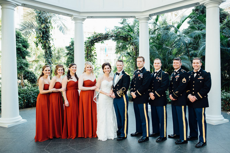 nashville-wedding-party-800x534 Julia and Wes | Nashville, TN Winter Wedding | Gaylord Opryland Hotel
