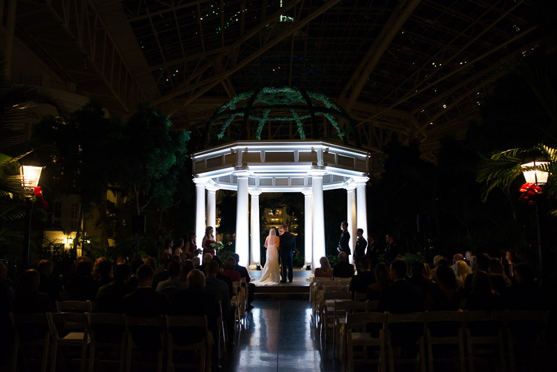 opryland-wedding-at-night-800x534 Julia and Wes | Nashville, TN Winter Wedding | Gaylord Opryland Hotel