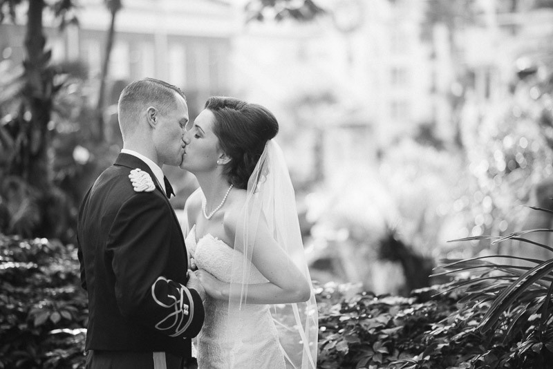 opryland-wedding-kiss-800x534 Julia and Wes | Nashville, TN Winter Wedding | Gaylord Opryland Hotel