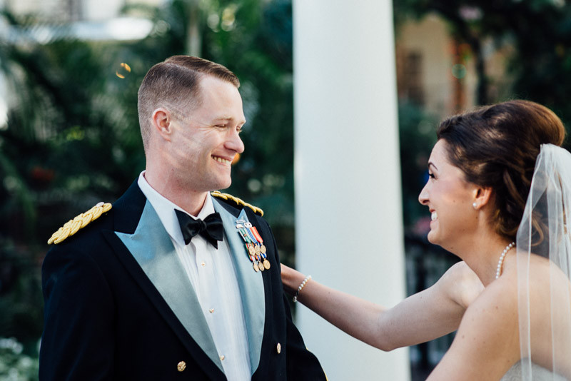 smiling-first-look-groom-800x534 Julia and Wes | Nashville, TN Winter Wedding | Gaylord Opryland Hotel