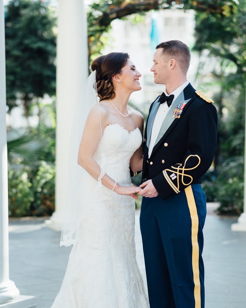 wedding-photography Julia and Wes | Nashville, TN Winter Wedding | Gaylord Opryland Hotel