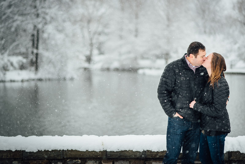 kissing-in-snow-engagement-photos-800x534 Sara and Ryan | Nashville Winter Snow Engagement Session