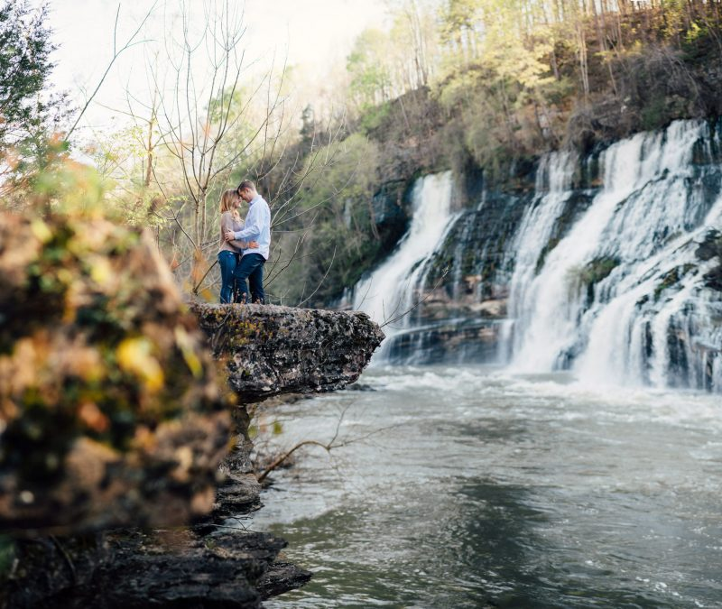 waterfall-engagement-photos-800x675 Rock Island, Tennessee | Waterfall Engagement