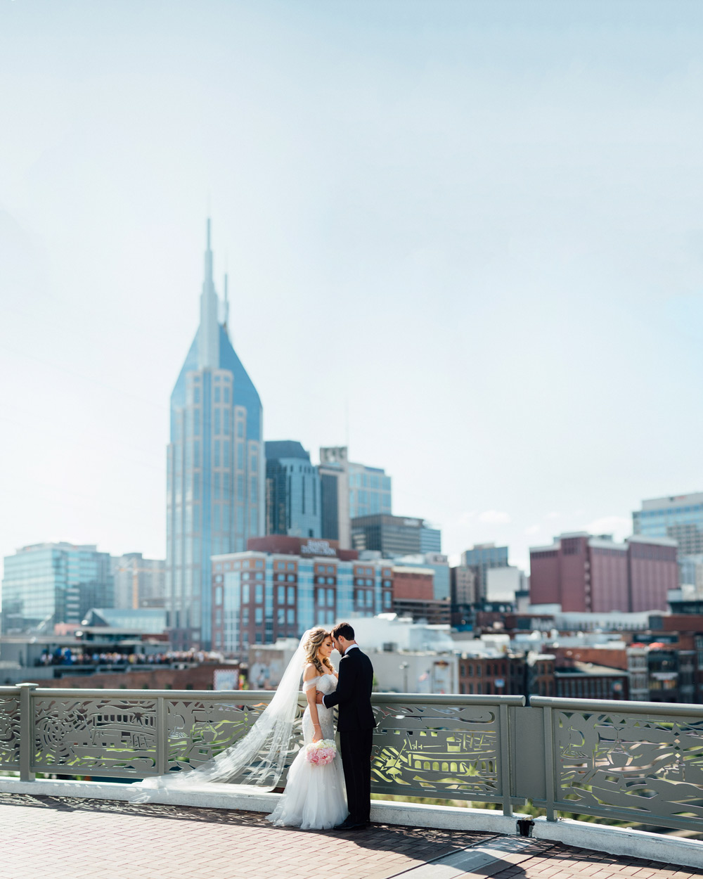 nashville-skyline-wedding-photography Downtown Nashville Wedding | Andrea + Ted | The aVenue