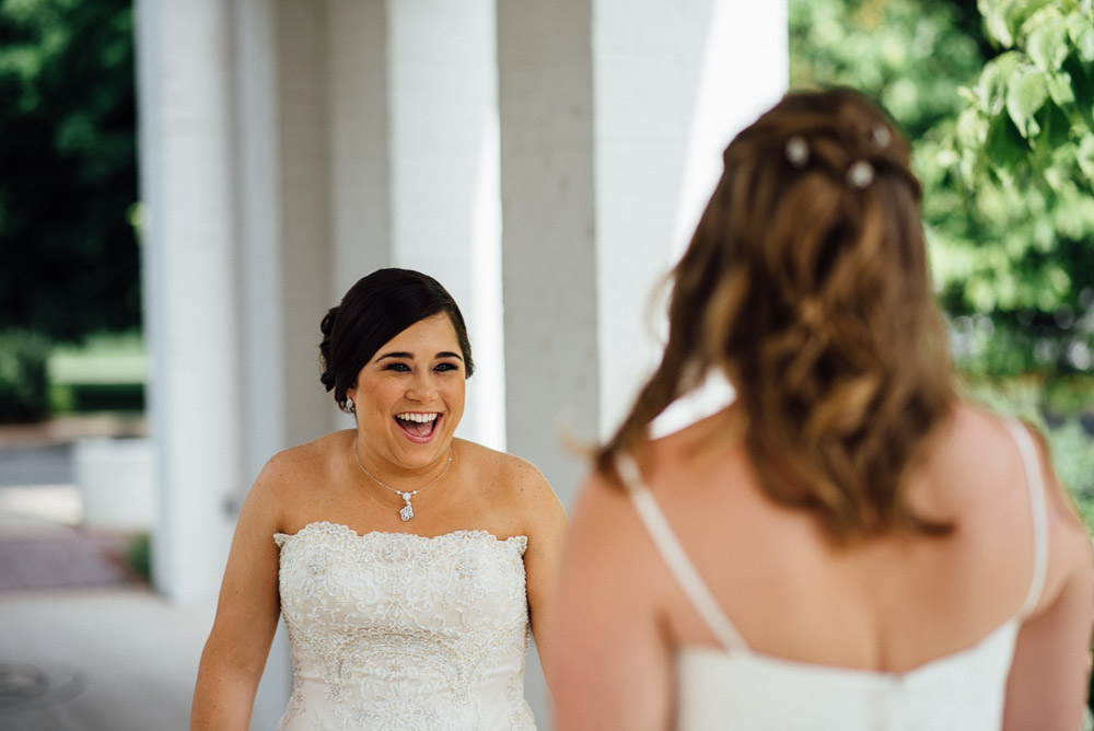 beautiful-first-look Amy + Tara | Travellers Rest Plantation Wedding