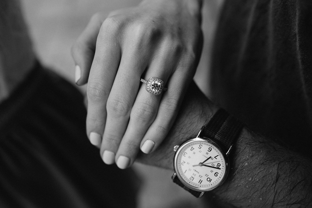 engagement-ring-and-watch Becky + Alexander's Epic Engagement Session