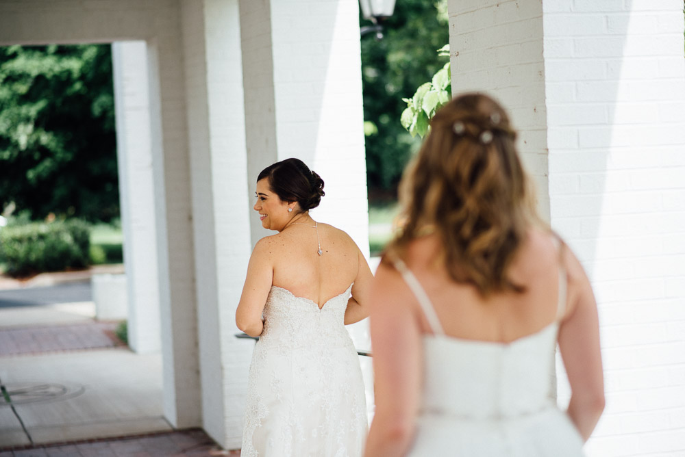 first-look Amy + Tara | Travellers Rest Plantation Wedding