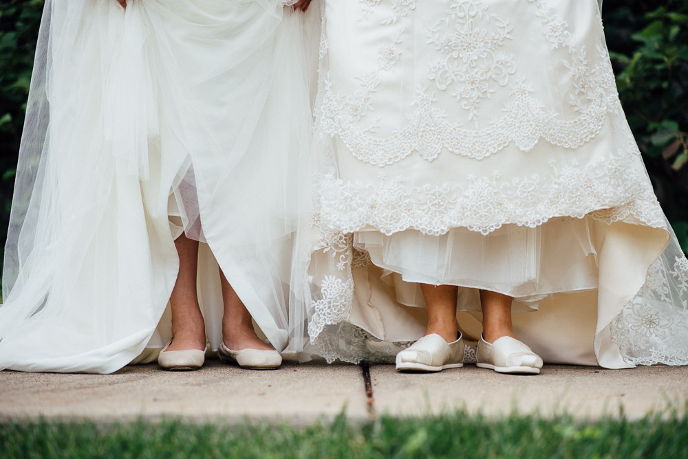 two-brides-toms-shoes Amy + Tara | Travellers Rest Plantation Wedding