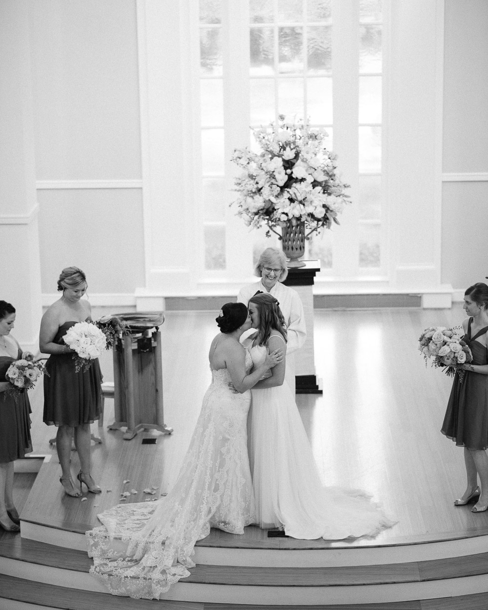 wedding-kiss Amy + Tara | Travellers Rest Plantation Wedding