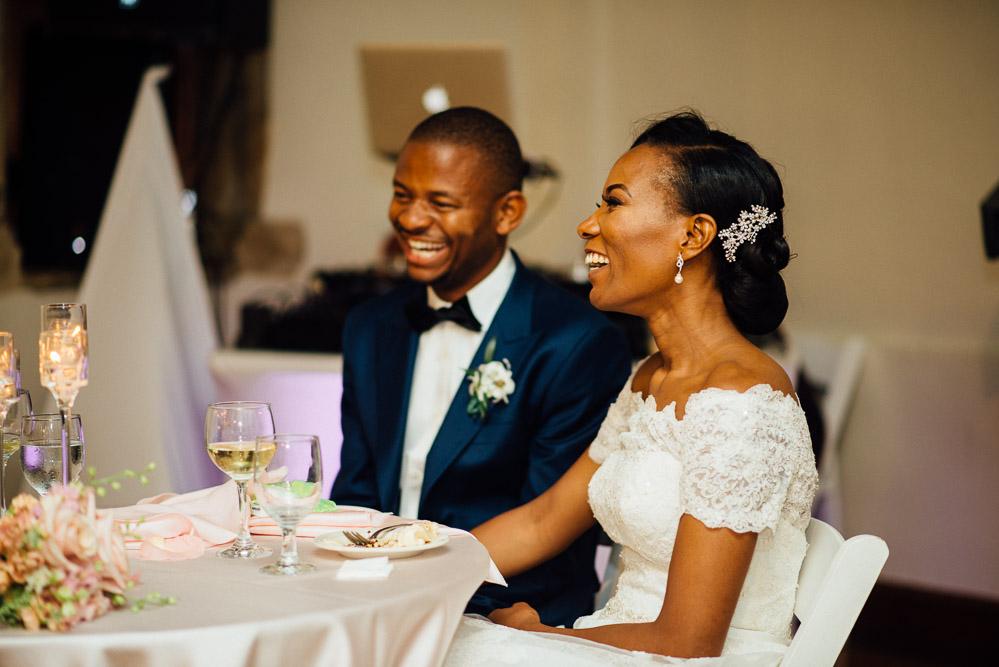 bride-groom-at-head-table Cloisters Castle Wedding   Towson Maryland