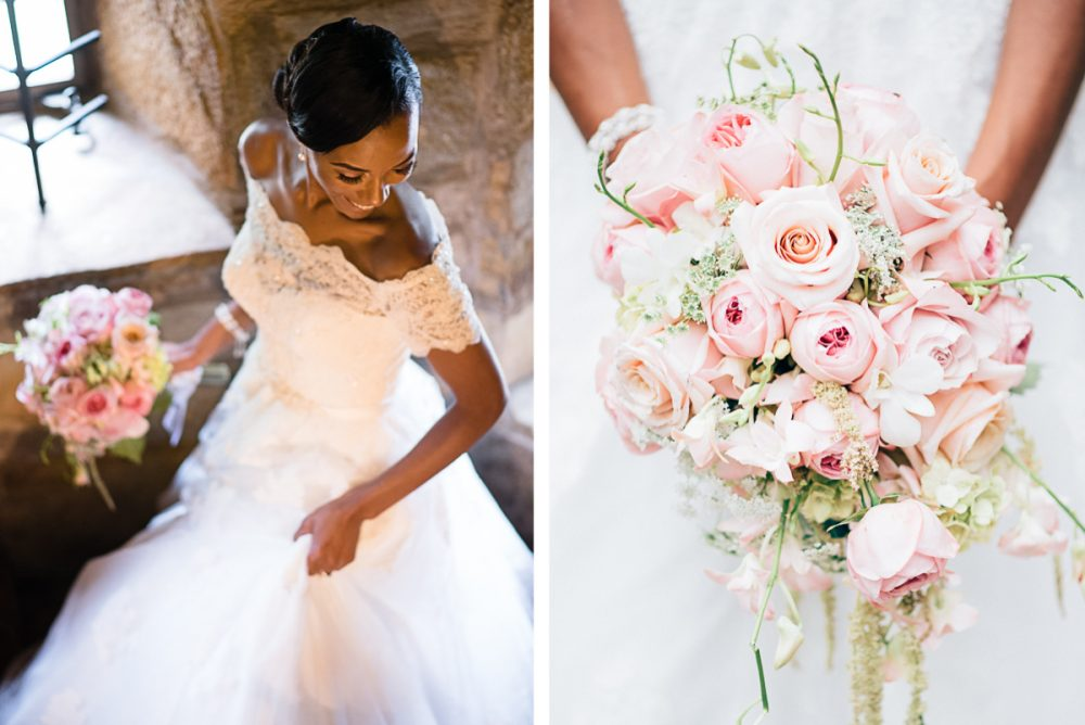 bride-on-staircase-e1475268987998 Cloisters Castle Wedding   Towson Maryland