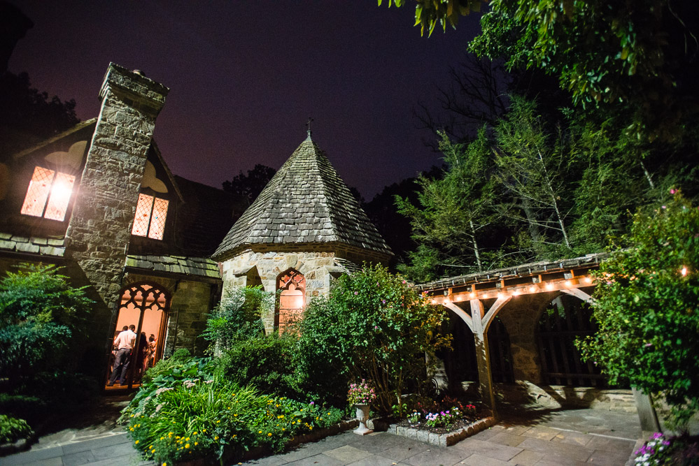 cloisters-castle-at-night Cloisters Castle Wedding | Towson Maryland