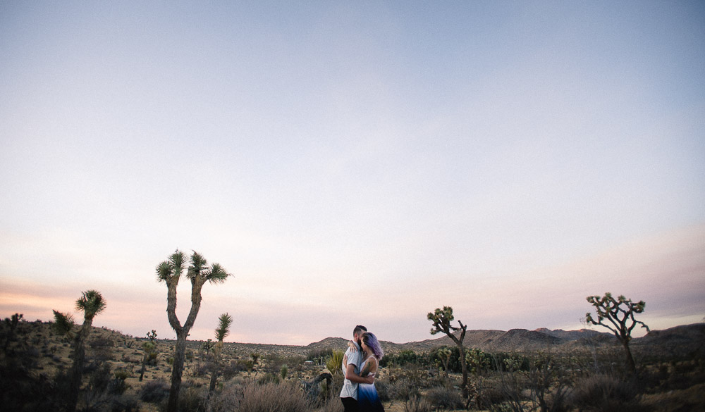 epic-sunset-engagement-photo Epic Adventure Destination Engagement Session | Joshua Tree, CA