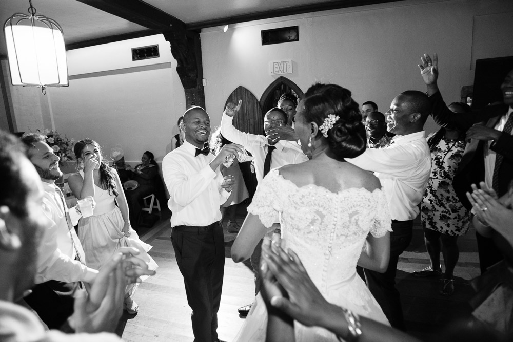 groom-dancing Cloisters Castle Wedding | Towson Maryland