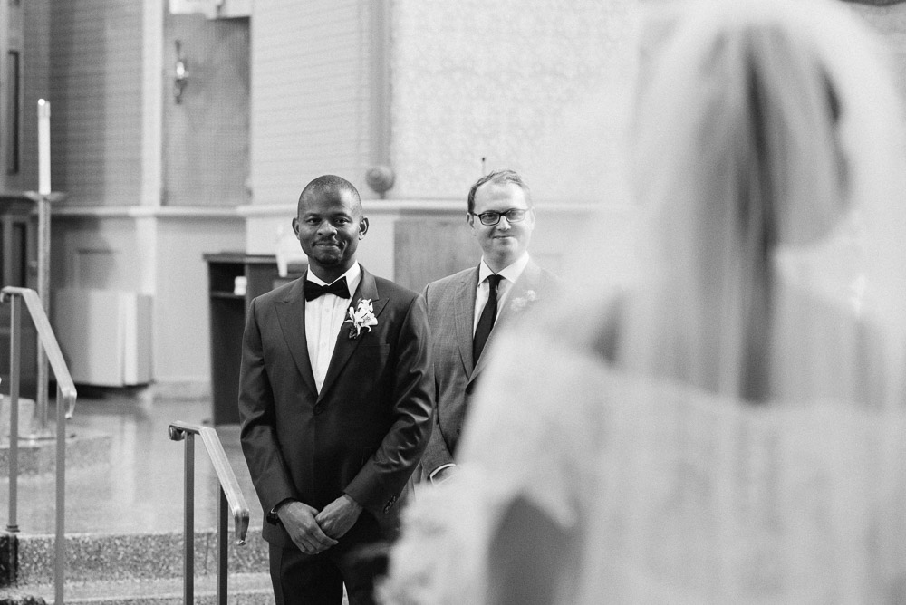 groom-seeing-bride Cloisters Castle Wedding | Towson Maryland