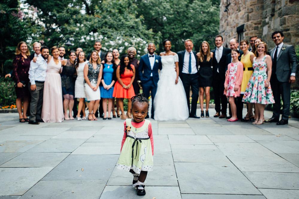 little-girl-photobomb Cloisters Castle Wedding   Towson Maryland