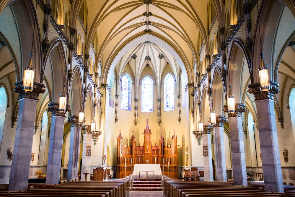 Towson Maryland Catholic Wedding Cloisters Castle