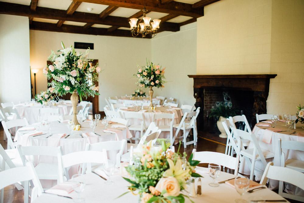 wedding-centerpieces Cloisters Castle Wedding   Towson Maryland