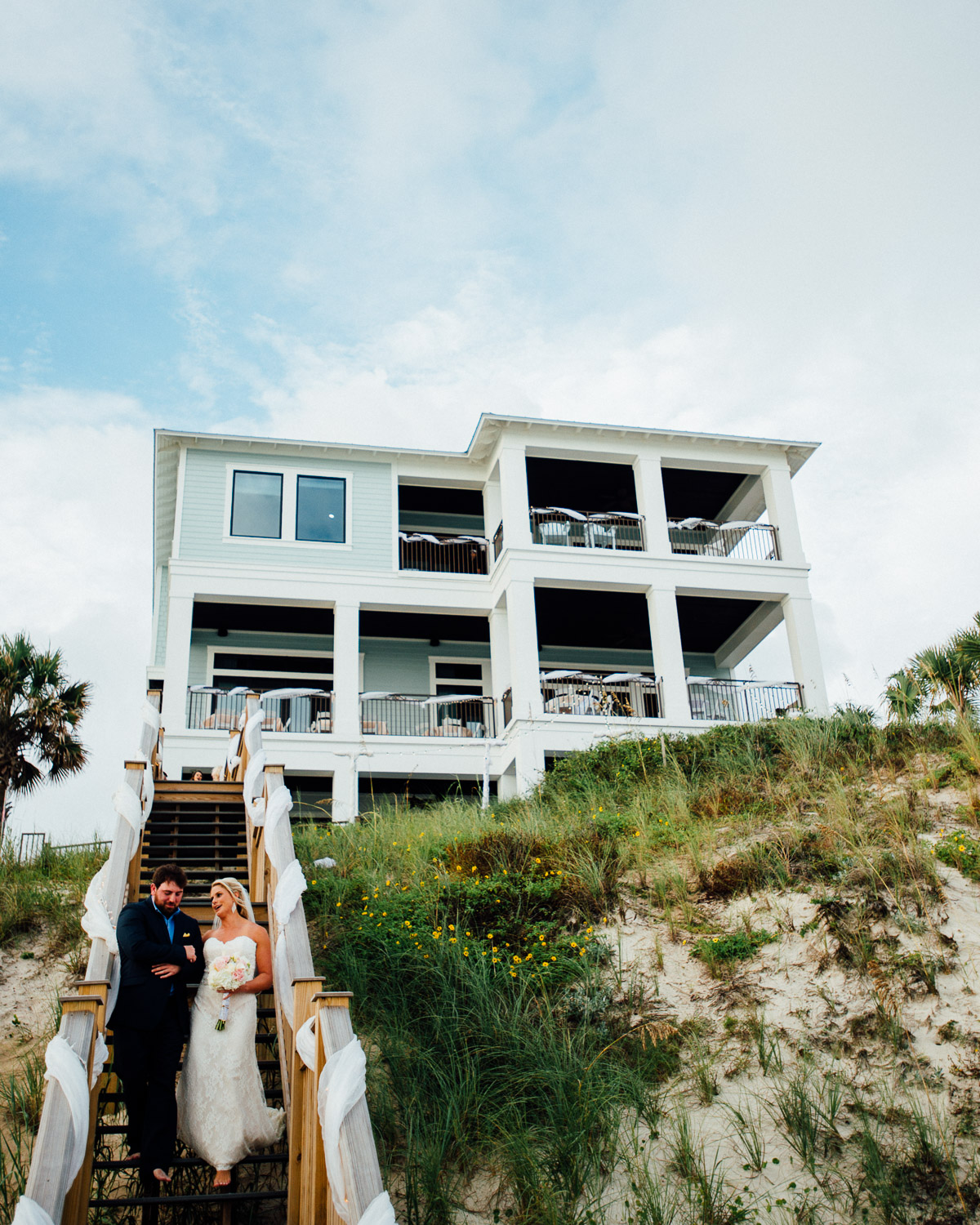brother-walking-bride-down-aisle Destin Beach House | Destination Wedding | Kasey and Rocky
