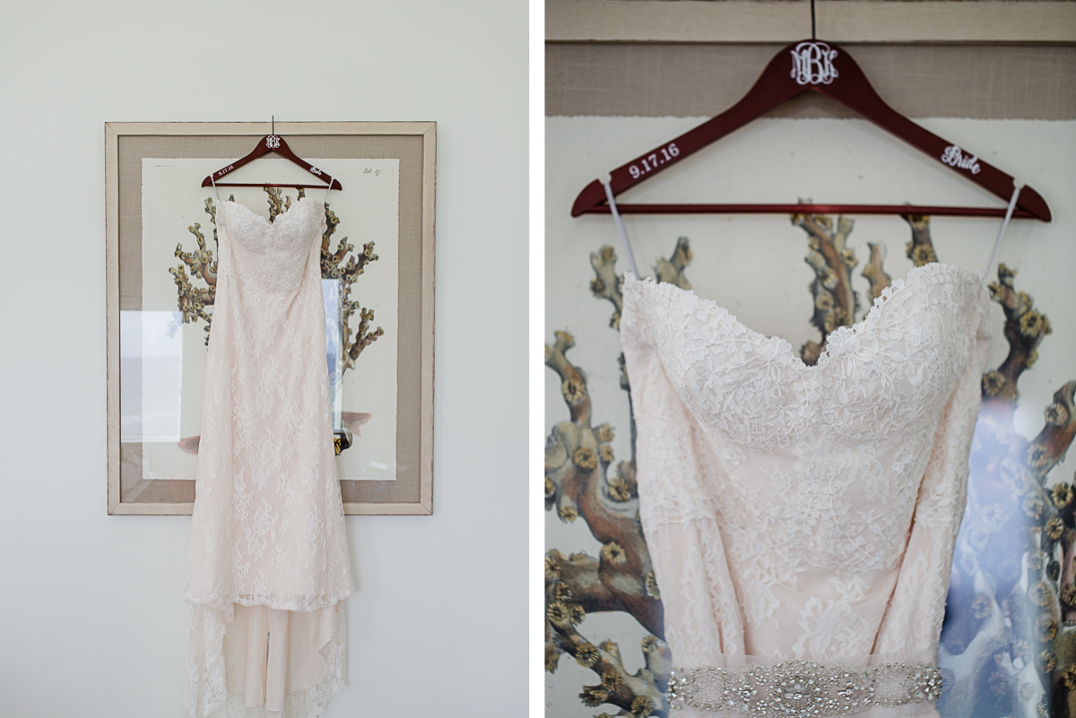 wedding-dress-hanger-custom-detail Destin Beach House | Destination Wedding | Kasey and Rocky