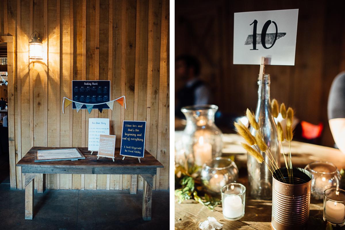 barn-wedding-details Becky and Alex | Green Door Gourmet - Fall Nashville Wedding