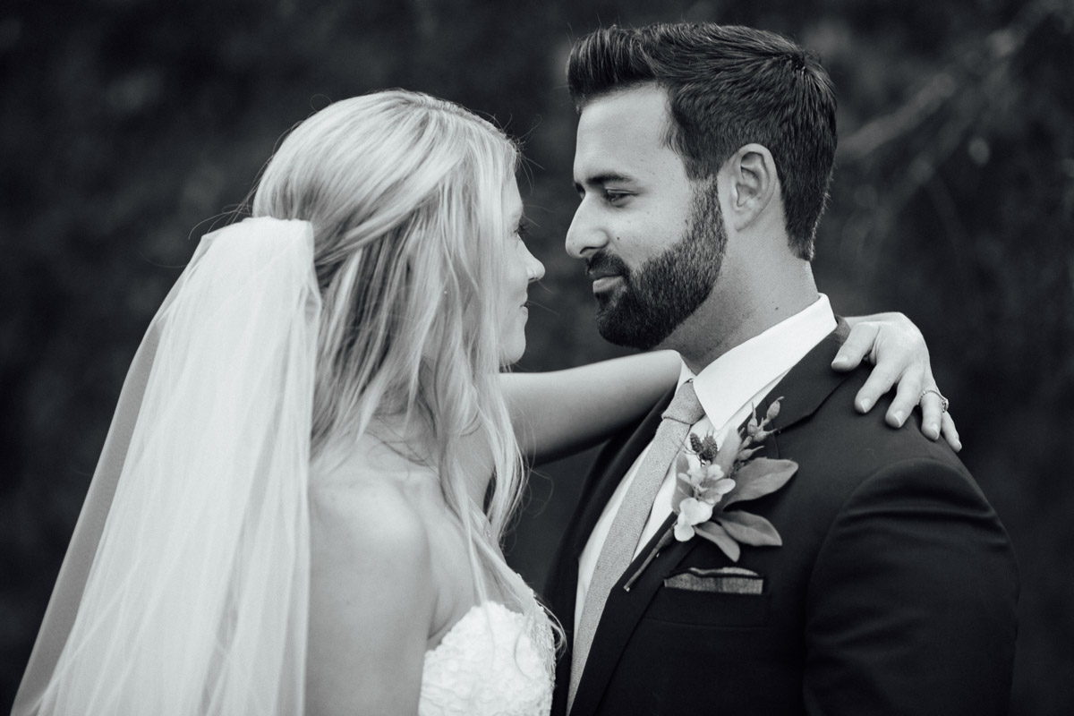 black-and-white-portrait Becky and Alex | Green Door Gourmet - Fall Nashville Wedding
