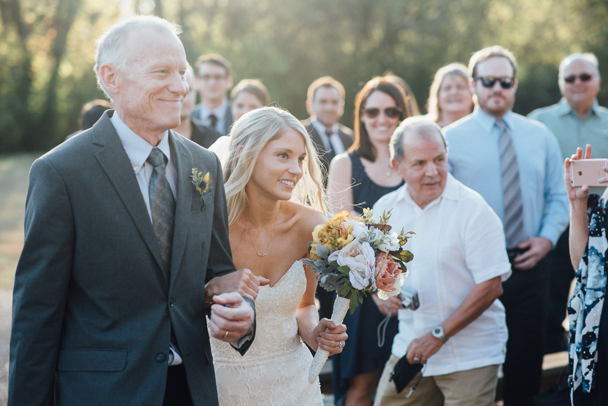 bride-and-father Becky and Alex | Green Door Gourmet - Fall Nashville Wedding
