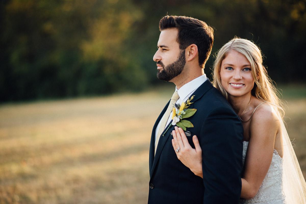 bride-and-groom-poses Becky and Alex | Green Door Gourmet - Fall Nashville Wedding
